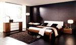 Дизайнерска спалня в черно по поръчка 67-2618