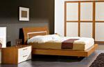 Дизайн на легло по поръчка с извита табла, на дървена основа, излизаща от матрака 79-2618