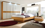 Спални мебели по поръчка в бяло и светъл МДФ 91-2618