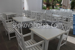 Дървена маса за заведения