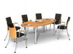 заоблена заседателна маса 8 места