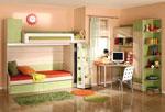 Детски стаи - двойно легло на етажи по поръчка 278-2617