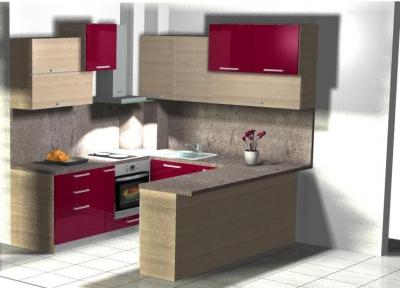 Поръчкова изработка на мебели за евтина кухня вносител