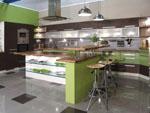 Дизайнерски модерни кухненски мебели магазин