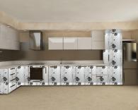 Цялостно обзавеждане за модерна кухня по индивидуален проект магазин