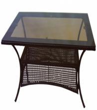 Маса от ратан с плот стъкло
