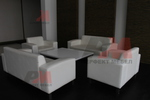 Авангардна мека мебел с ракла