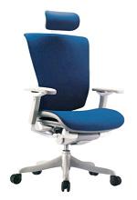 Мениджърски стол с синьо