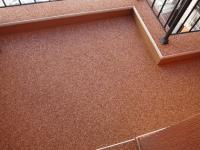 Оранжева подова настилка от кварц