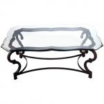 стъклена масичка от ковано желязо 3803-3171