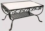 дизайнерска холна маса от ковано желязо