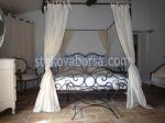 изработване на спалня от ковано желязо с балдахин