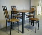 Столове и маса ковано желязо за открита тераса