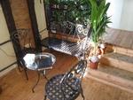 Столове и маса ковано желязо за тераса