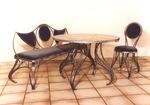 Градински стол произведен от ковано желязо