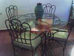 Столове и маса ковано желязо за заден двор