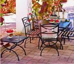 Ковани железни столове и маси,подходящи и за навън