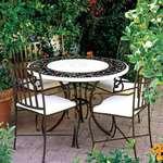 Столове и маса ковано желязо за закрита тераса