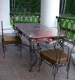 Маси и столове ковано желязо по поръчка