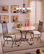 Столове и маса ковано желязо зa екзотично заведение