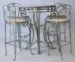 Бар столове  и маса от ковано желязо