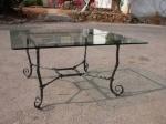 Проектиране на маса от ковано желязо