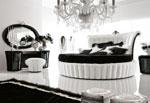 Тапицирана луксозна кръгла спалня по поръчка.