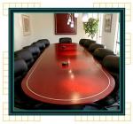 луксозна правоъгълна заседателна маса 11 места