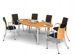 заседателна маса елипса 8 места
