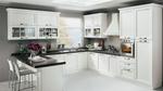 уютни кухни масив с тъмен плот по задание