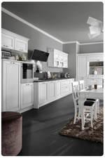 солидни кухни масив с тъмен плот модерни