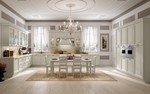 ъглови класически кухни бял цвят по поръчка