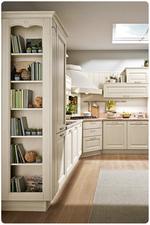 комфортни луксозни бели кухни ретро различен дизайн