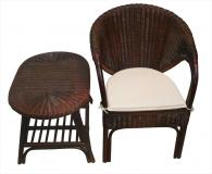 Комплект маса и стол от ратан