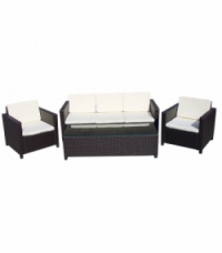 Ратанов комплект с  диван 3-ка