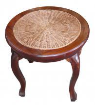 Кръгла маса от масив и ратан