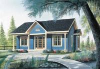 Сглобяема къща синя 82 кв.м