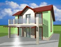 Двуетажна къща сглобяема