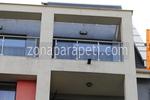 парапети за балкони от алуминии и стъкло по поръчка