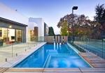 Цялостно изграждане на стъклени огради за басейни. Цен