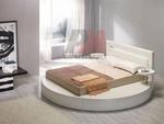 нтересен  интериорен дизайн на спалня с кръгло легло по проект