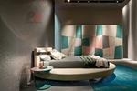 цялостен  интериорен дизайн на спалня с кръгло легло лукс
