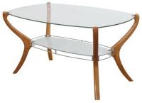 Елегантна маса от масив и стъкло