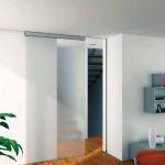 Врата от полуматово стъкло, изработка по поръчка