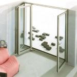 сгъваеми стъклени врати