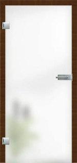 еднокрилна стъклена врата