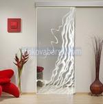 изработка и монтаж на стъклена врата с едно крило