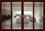 изработка на стъклена врата с две отварящи се крила