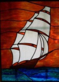 Витраж на пано Лодка