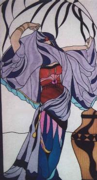 Витраж с изображение танцьорка